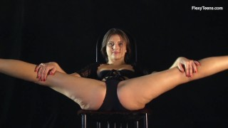 Hot Kim Nadara doing nude gymnastics